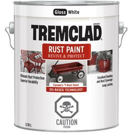3.78L Gloss White Alkyd Rust Paint thumb