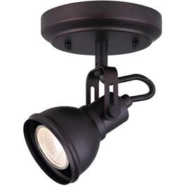 Polo 1 Light Oil Rubbed Bronze Flush Track Ceiling/Wall Light Fixture thumb
