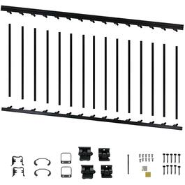 "6' x 36"" Black Aluminum Stair Railing Kit thumb"