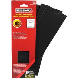 "25 Pack 3"" x 11"" 150 Grit Drywall Sandpaper thumb"