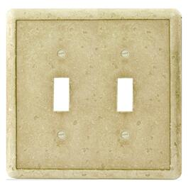 Earth-Stone 2-Toggle Switch Plate thumb
