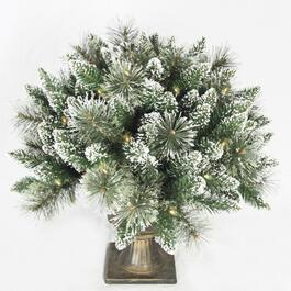 "24"" Frosted Pine Potted Arrangement, with 50 Lights thumb"