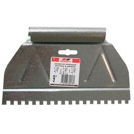 "9"" x 1/4"" Square Notch Metal Adhesive Spreader thumb"