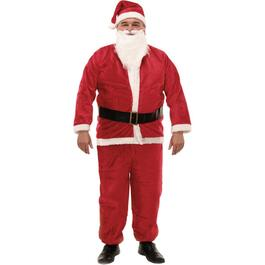 5 Piece Plush Santa Suit, with Hat thumb