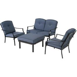 4 Piece Santana Steel Conversation Set thumb