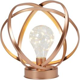 Copper Metal Tellurion Lantern, with Battery Operated LED Bulb thumb