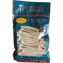 "50 Pack 3-1/4"" White Golf Tees thumb"