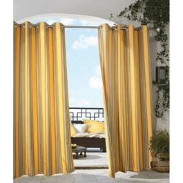 "50"" x 96"" Rainbow Stripe Grommet Outdoor Curtain thumb"