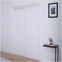 "72"" x 80"" White Embossed Sliding Door thumb"