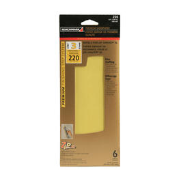 6 Pack 220 Grit Hook and Loop Sandpaper Refills thumb