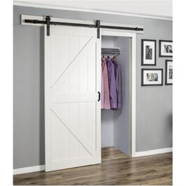K-Frame Off White Interior Sliding Barn Door, with Hardware thumb