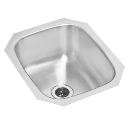 "14"" x 12"" x 6 1/8"" Stainless Steel Undermount Bar Sink thumb"