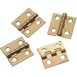 "2 Pack 3/4"" x 11-16"" Brass Medium Hinges thumb"