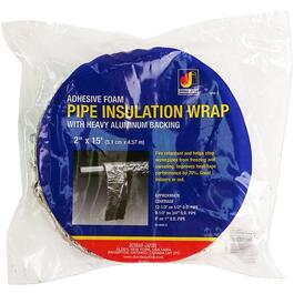 "2"" x 15'L Aluminum Backed Foam Pipe Insulation Wrap thumb"