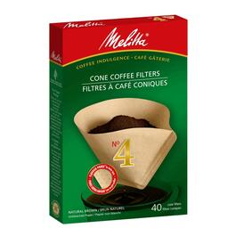 40 Pack Natural Brown #4 Cone Coffee Maker Filters thumb