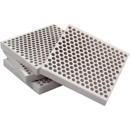 "18 Pack 3"" x 3"" Honeycomb Barbecue Clay Bricks thumb"