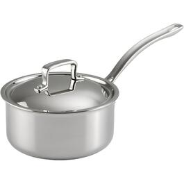 2 Quart Stainless Steel 3 Ply Saucepan, with Cover thumb