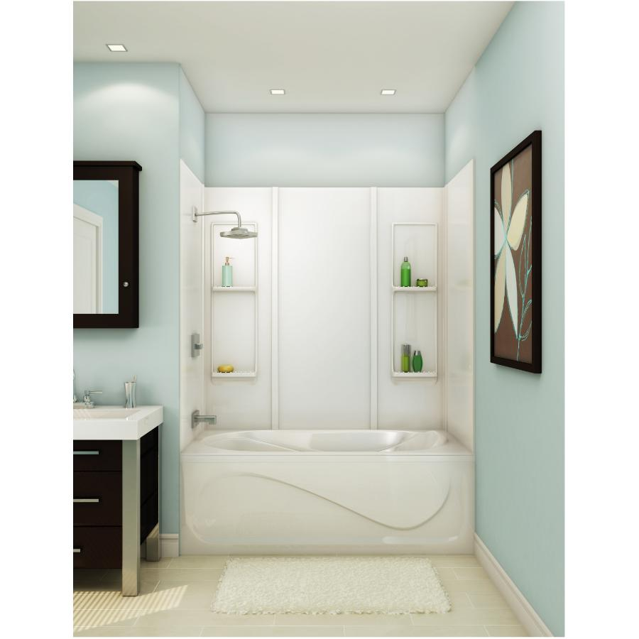 "maax 59"" elan white tub wall - home hardware canada"