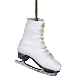 "5"" White Figure Skate Ornament thumb"