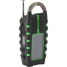 Portable Rugged AM-FM Multi-Purpose Digital Radio, with USB, Flashlight, Crank and Bonus Light thumb