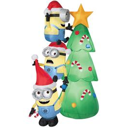 6' Outdoor Inflatable Airblown Minion Totem Figure thumb
