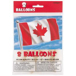 "8 Pack 12"" Latex Canada Day Balloons thumb"