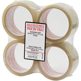 4 Pack 48mm x 50M Clear Sealing Packaging Tape thumb