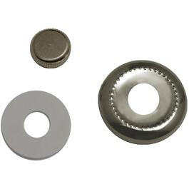 "1/8"" IPS Nickel Metal Lock-Up Kit (Cap, Ring and Washer) thumb"