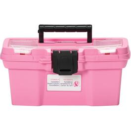 "11"" x 6"" x 5.5"" Pink Tool Box, with Tray thumb"