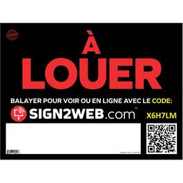 "18"" x 24"" Web Enabled À Louer Sign thumb"