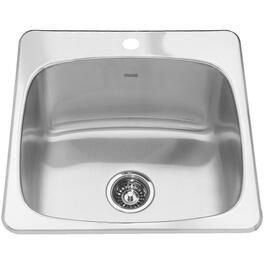 "20-9/16"" x 20"" x 10"" 1 Hole Stainless Steel Laundry Sink thumb"