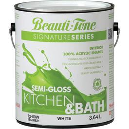 3.64L White Base Semi Gloss Kitchen & Bath Interior Latex Paint thumb