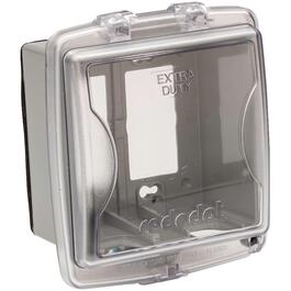 2 Gang Medium While-In-Use Extra Duty Weatherproof Clear Receptacle Cover thumb