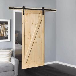 "36"" x 84"" Z-Frame Unfinished Sliding Pine Barn Door, with Hardware thumb"