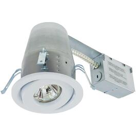 "4"" 50W White Recessed Tilting Light Fixture for Remodeling thumb"