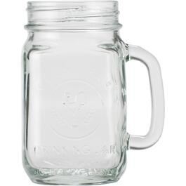 16oz Clear Glass County Fair Jar Drinking Mug thumb