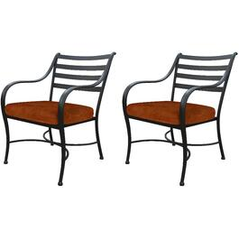 2 Pack Helena Steel Dining Chairs, with Cushions thumb
