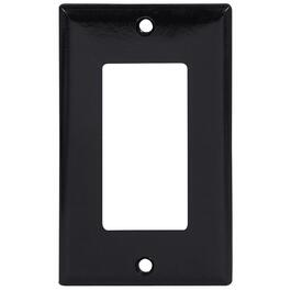Black 1 Device Switch Plate thumb