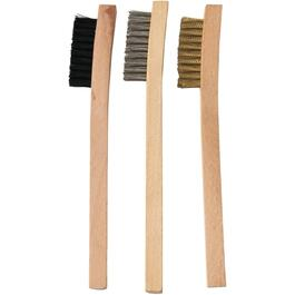 3 Piece Plastic/Stainless Steel/Brass Wire Brush Set thumb