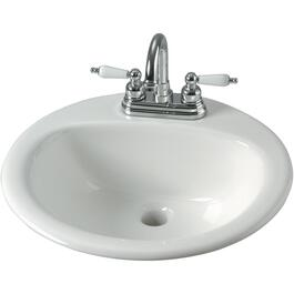 "19"" x 8 1/2"" Vienna White Drop In Basin thumb"