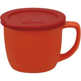 20oz Red Vermillion Stoneware Soup Mug, with Cover thumb
