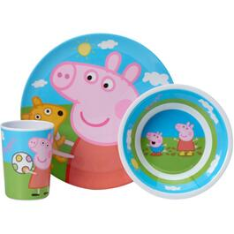 3 Piece Melamine Peppa Pig Dinnerware Set thumb