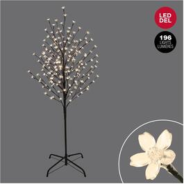 5' Outdoor Cherry Blossom Twig Tree, with Warm White LED Lights thumb