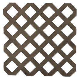 4' x 8' Dark Brown Classic Ultra Light Vinyl Lattice thumb