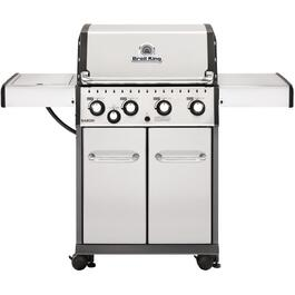 Baron 440 4 Burner + 1 Inset Side Burner 644 sq. in. 40,000BTU Stainless Steel Propane Barbecue thumb