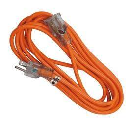 5M SJTW 16/3 Orange Extension Cord with Light thumb