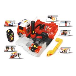 Battery Operated Push and Play Fire Truck, with Lights and Sound thumb