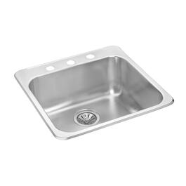 "20"" x 20 1/2"" x 7 1/8"" Stainless Steel Single Drop In Kitchen Sink thumb"