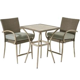 3 Piece Wicker Grand Bay Balcony Height Bistro Set thumb