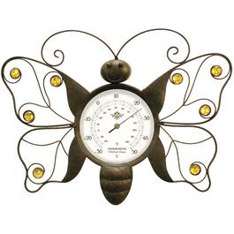 "13"" x 9.5"" Butterfly Metal Dial Thermometer thumb"